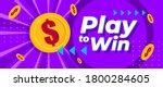 play to win online games money... | Shutterstock .eps vector #1800284605