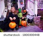 Halloween Kids With Orange Jack ...
