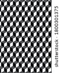 cubes pattern in black color | Shutterstock . vector #1800301375
