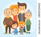 a happy family. parents and... | Shutterstock .eps vector #1800310432