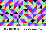 geometric pattern of many colors | Shutterstock . vector #1800312742