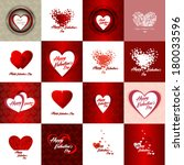 set of happy valentines day... | Shutterstock .eps vector #180033596