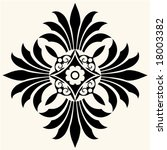 decorative floral ornament | Shutterstock .eps vector #18003382