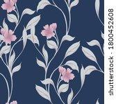 beautiful seamless floral... | Shutterstock . vector #1800452608
