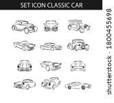 set of classic car outline logo ... | Shutterstock .eps vector #1800455698