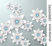 abstract 3d design flowers ... | Shutterstock .eps vector #180045992