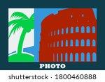 digital photo frame icon. flat...