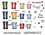 happy home family four concept. ... | Shutterstock .eps vector #1800486352