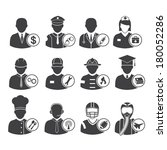 occupation icons set  vector... | Shutterstock .eps vector #180052286