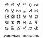 multimedia line vector icon set ...