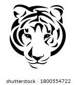 wild tiger  panthera tigris ... | Shutterstock .eps vector #1800554722