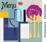 menu card  design template for... | Shutterstock .eps vector #180056282