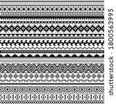tribal indian borders. black...   Shutterstock .eps vector #1800563995