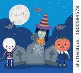 Happy Halloween  Witch Skeleton ...