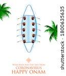 illustration of masj snakeboat... | Shutterstock .eps vector #1800635635