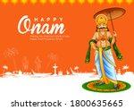 illustration of king mahabali... | Shutterstock .eps vector #1800635665