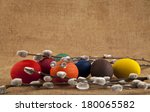 eggs to easter and branch of... | Shutterstock . vector #180065582