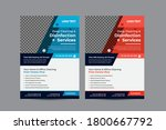cleaning services flyers... | Shutterstock .eps vector #1800667792