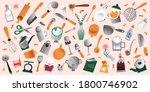 cooking utensils set ... | Shutterstock .eps vector #1800746902