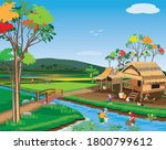 lifestyle of people in the...   Shutterstock .eps vector #1800799612