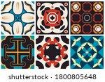 traditional ornate portuguese... | Shutterstock .eps vector #1800805648