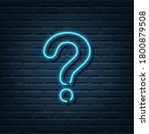 question mark neon sign vector... | Shutterstock .eps vector #1800879508