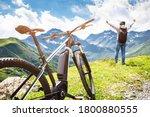 mountain e bike in austria.... | Shutterstock . vector #1800880555