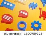 social media conversation... | Shutterstock . vector #1800909325