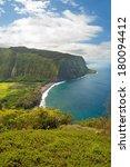 waipio valley lookout sign on... | Shutterstock . vector #180094412