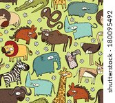 african animals collage is... | Shutterstock .eps vector #180095492