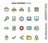 vector icons related to basic...   Shutterstock .eps vector #1800957202