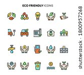 vector icons related to eco... | Shutterstock .eps vector #1800957268
