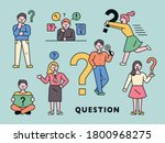 people are making a thinking... | Shutterstock .eps vector #1800968275