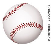 detailed baseball close up | Shutterstock . vector #180098648
