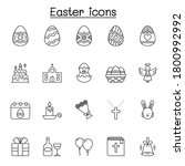 Set Of Easter Related Vector...