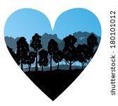 forest tree wild romantic love... | Shutterstock .eps vector #180101012