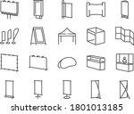 exhibition line icon set.... | Shutterstock .eps vector #1801013185