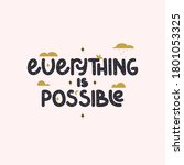 inspiration quotes   everything ...   Shutterstock .eps vector #1801053325
