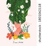 inner peace and meditative... | Shutterstock .eps vector #1801062118