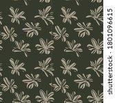 green floral brush strokes...   Shutterstock .eps vector #1801096615
