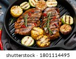 Grilled Meat With Vegetables In ...