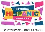 national hispanic heritage...   Shutterstock .eps vector #1801117828