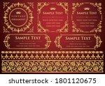 set of vintage elements for... | Shutterstock .eps vector #1801120675