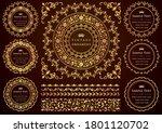 set of vintage elements for... | Shutterstock .eps vector #1801120702