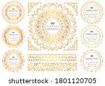 set of vintage elements for... | Shutterstock .eps vector #1801120705