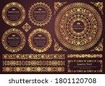 set of vintage elements for... | Shutterstock .eps vector #1801120708