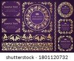 set of vintage elements for... | Shutterstock .eps vector #1801120732