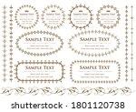 set of vintage elements for... | Shutterstock .eps vector #1801120738