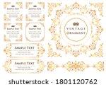 set of vintage elements for... | Shutterstock .eps vector #1801120762