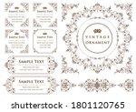 set of vintage elements for... | Shutterstock .eps vector #1801120765